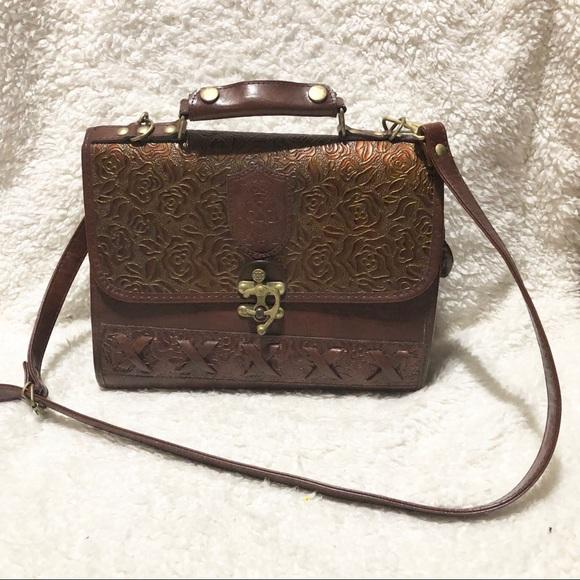 8087b542ce283c Dina Jordan Handbags - Vintage 1970 s Dina Jordan Tooled Leather Bag